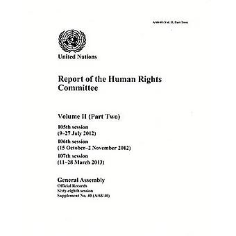 Report of the Human Rights Committee - Volume 2 - Part 2 - 105th Session