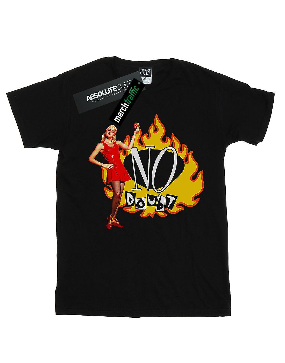 No Doubt Women's Gwen Flames Boyfriend Fit T-Shirt