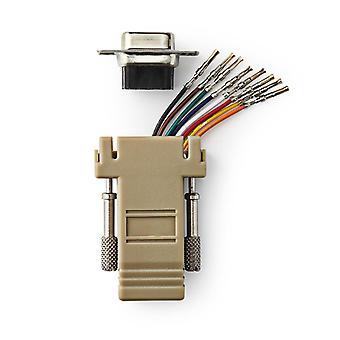 Nedis CCGP52820IV D-sub-adapter D-sub 9-pins Female - Rj45 (8p8c) Female Ivoor