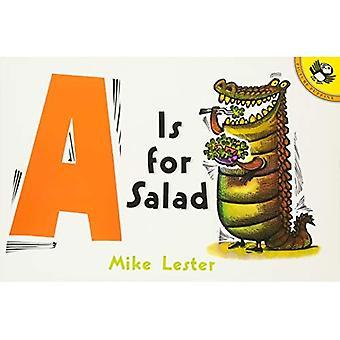 A er for salat (bilde lundefugl)