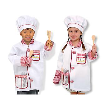 Childrens Melissa and Doug Chef Costume Fancy Dress Costume Age 3-6