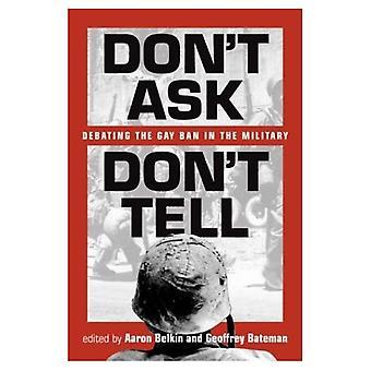 Don't Ask, Don't Tell: Bespreken het Gay-verbod in het Amerikaanse leger