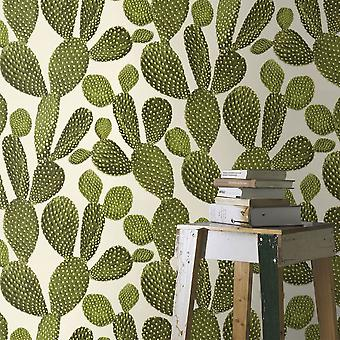 Cactus Wallpaper Cacti Plant Tropical Paste The Wall Textured Vinyl White Green