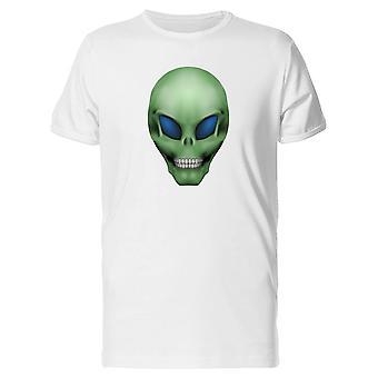 Green Humanoid Alien Skull Tee Men's -Image by Shutterstock