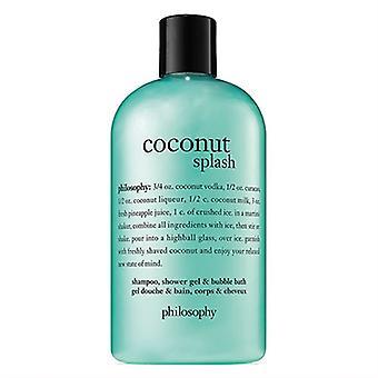 Философия кокосового Splash шампунь, гель для душа & пузырь ванна 16oz/480 мл