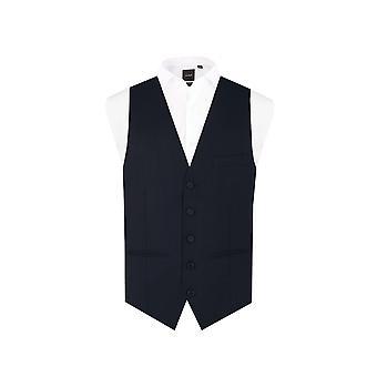 Dobell Mens Navy Waistcoat Regular Fit 5 Button