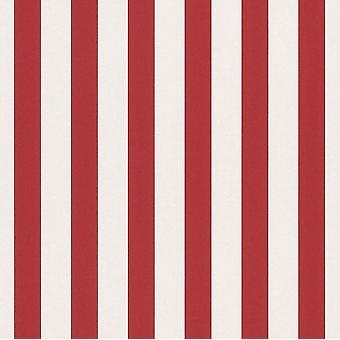 Stripes enfants ados chambre papier peint Stripe pépinière blanc rouge caractéristique mur Rasch