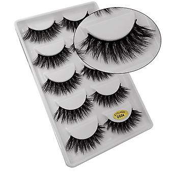 5-pair false eyelashes-3D faux mink-G604