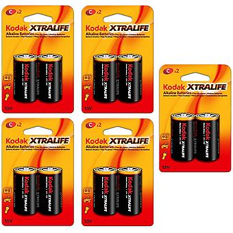 10-pack Battery C, LR14 Alkaline Batteries Kodak Xtralife