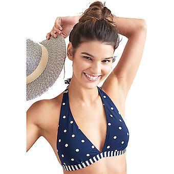 Joule Womens Coraline Halterneck Clip tillbaka Bikini Top