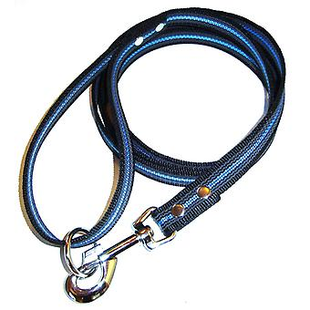 K9-Sport Super-Grip leash with handle, black & Blue
