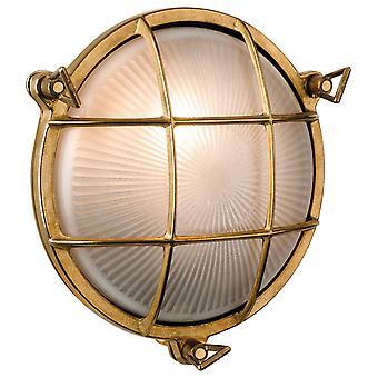 Firstlight-1 ljus utomhus vägg, flush ljus mässing, frostat glas IP64-3434BR