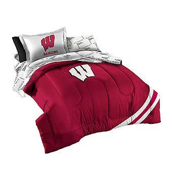NCAA Wisconsin dassen 5 stuk trooster set-Twin grootte
