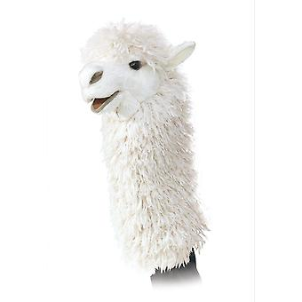Hand Puppet - Folkmanis - Alpaca Stage Puppet New Toys Soft Doll Plush 2885