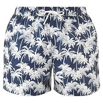 Hot Tuna Mens Palm Print Shorts Mesh internal briefs print