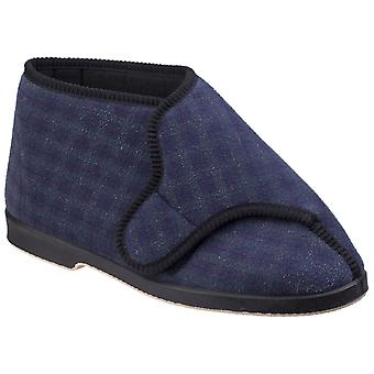 GBS Mens Keswick Touch Fastening Bootee Blue
