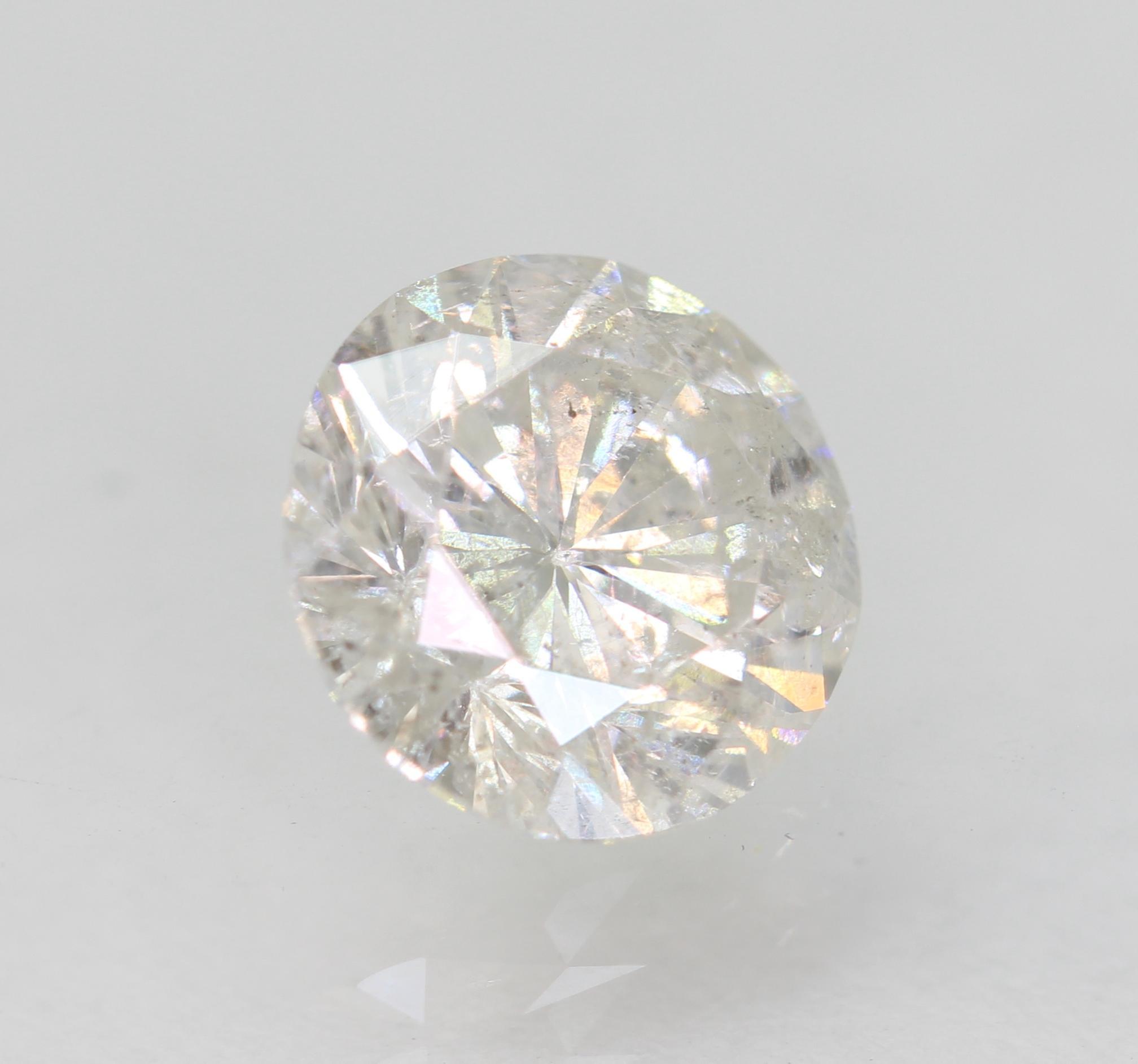 Certified 1.26 Carat E SI2 Round Brilliant Enhanced Natural Loose Diamond 6.97mm