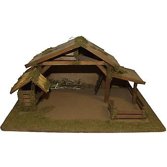Crib Nativity scene wood Nativity stable JÚNIAS hand work for characters up to 12 cm