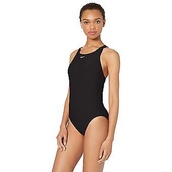 Nike Swim Women's Fast Back One Piece Swimsuit, Negro, 38
