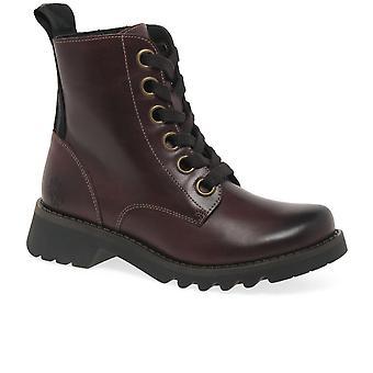 Fly London Ragi Womens militaire stijl laarzen