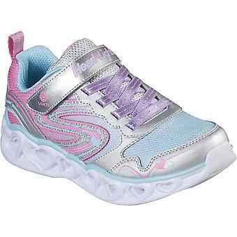 Skechers meninas coração luzes-amor faísca acender sapatos