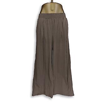 Anybody Women's Pants Cozy Knit Wide-Leg Brown A347172
