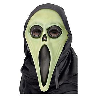 Mens glöd i mörka Screamer Mask Halloween maskeraddräkter tillbehör