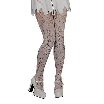 Wicked White Tights With Blood Splatter