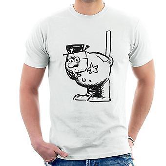 Krazy Kat Officer Bull Pupp Staring Men's T-Shirt