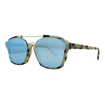 Dior Abstract A4E/A4 Beige Tortoiseshell/Light Blue Mirror Sunglasses