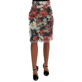 Dolce & Gabbana Floral Patterned Pencil Straight Skirt -- SKI1607344