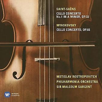 Miaskovsky / Rostropovich / Sargent / Philharmonia - Cello Concerto / Saint-Saens: Cello Concerto No 1 [CD] USA import