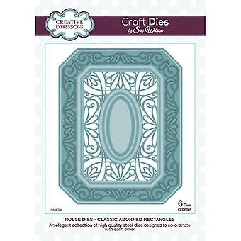 "Sue Wilson CED5501 edele ""klassieke versierd rechthoeken"" Dies"