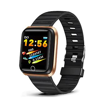 Lige Fashion Sports Smartwatch Fitness Športové aktivity Tracker Smartphone Hodinky iOS Android iPhone Samsung Huawei Gold Black TPU
