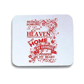 Tappetino mouse pad bianco gen0612 grandpa heaven in my home white