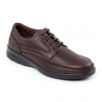 Padders Fire Mens Leather (f Fit) Comfort Shoes Brown