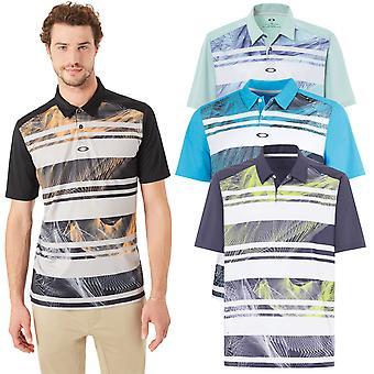 Oakley Golf Herren Aero Stripe Mashie Feuchtigkeit Wicking Polo Shirt