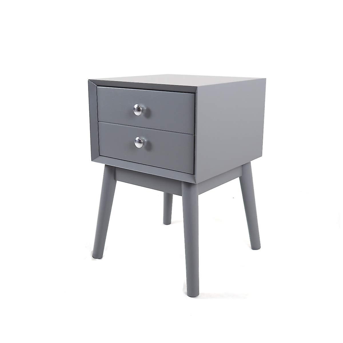 Penguin Home Mid Century Style Grey End Table, Wood