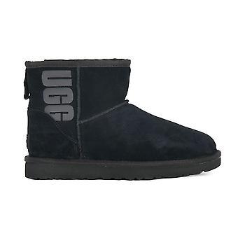 UGG Mini Classic Rubber Logo 1108231BLK universal winter women shoes