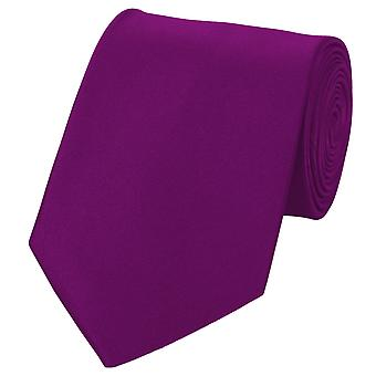 Schlips Krawatte Krawatten Binder 8cm dunkel lilla Fabio Farini