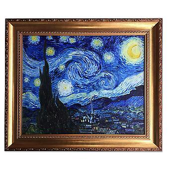 بعد فنسنت فان جوخ، ليلة مرصعة بالنجوم 50x60 اللوحة الزيتية