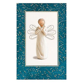 Willow Tree Bright Star Christmas Card With Message