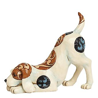 Jim Shore Heartwood Creek Bailey Dog Playing Figurine
