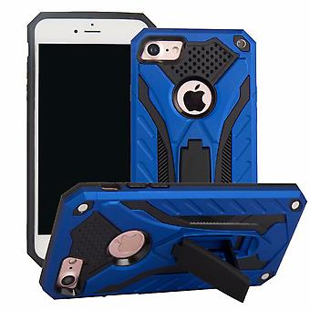 Pour iPhone SE (2020), 8 et 7 Case, Armour Strong Shockproof Tough Cover with Kickstand, Blue