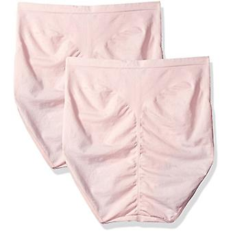 Bali Women's Shapewear Seamless Brief Ultra Control 2-Pack,, Pink, Size 3.0