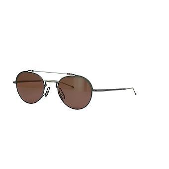 Thom Browne TBS912 03 Black Iron-Silver/Dark Brown Sunglasses