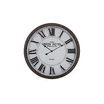 Light & Living Clock 78x7cm Banbury White And Brown