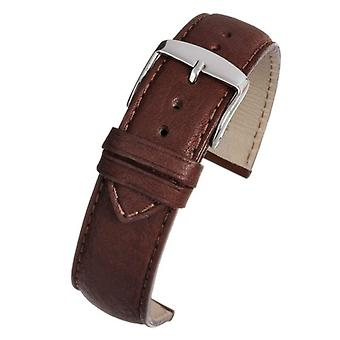 Calf leather watch strap brown superior supple