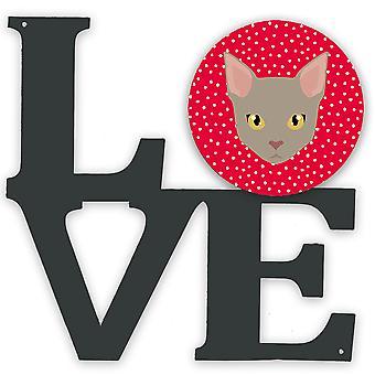 Carolines Treasures  CK5130WALV Malayan Cat Love Metal Wall Artwork LOVE