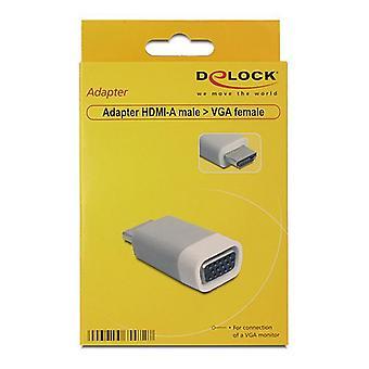 HDMI к VGA адаптер DELOCK 65472 Белый